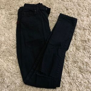 tight black jeans w/ripa on knees